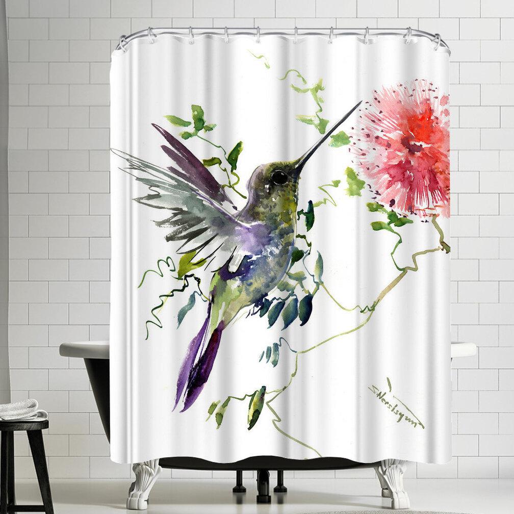 East Urban Home Suren Nersisyan Hummingbirds Single Shower Curtain Wayfair