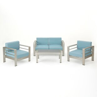Durbin 4 Piece Sofa Set with Cushions