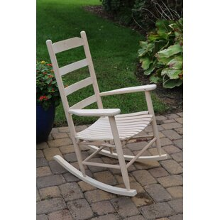 August Grove Medora Ladder Back Adult Rocking Chair