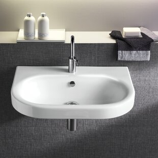 Shopping for Pro Vitreous China 22 Wall Mount Bathroom Sink with Overflow By Bissonnet