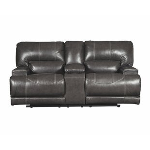Casey Reclining Loveseat with Console