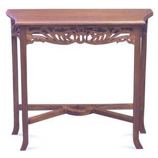 Sardis Fine Handcrafted Solid Mahogany Wood Console Table By Bungalow Rose