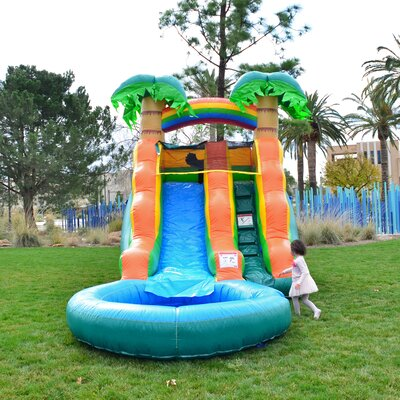 Tall Summer Breeze Water Slide Blower Inflatable Slide HeroKiddo