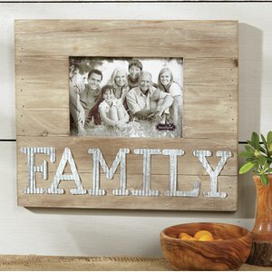 Pine Wood Family Picture Frame