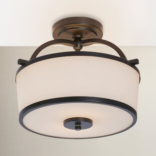 Camacho 2-Light Metal Semi Flush Mount by Latitude Run