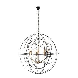Brayden Studio Hawtree 6-Light Globe Pendant