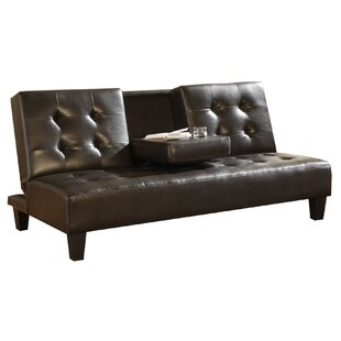 Lamere Faux Leather Upholstered Futon Convertible Sofa