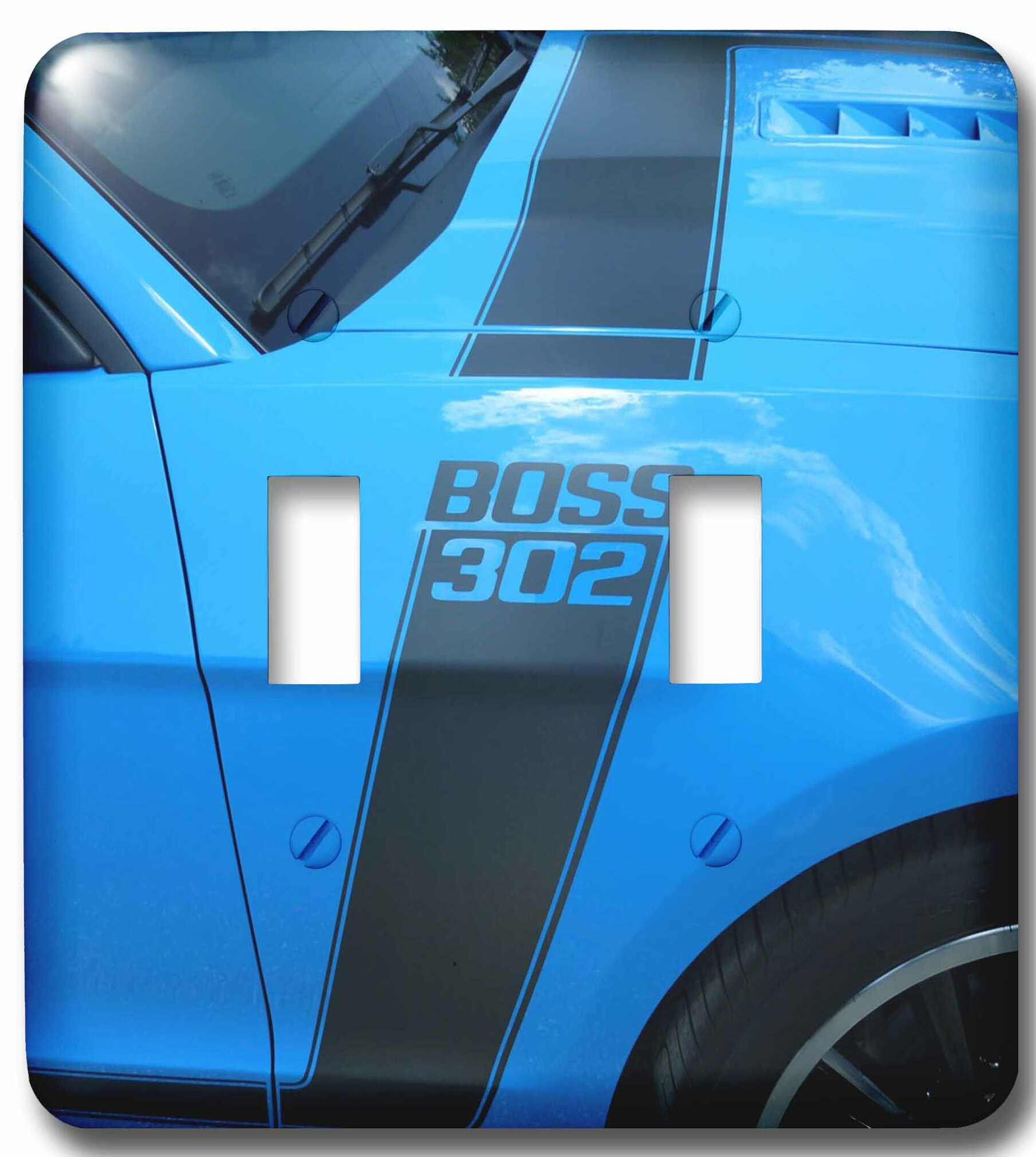 3drose The Great Boss 302 Mustang At Car Show In Florida 2 Gang Toggle Light Switch Wall Plate Wayfair