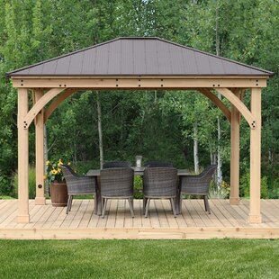 Meridian 12 Ft. W x 14 Ft. D Solid Wood Patio Gazebo by Yardistry
