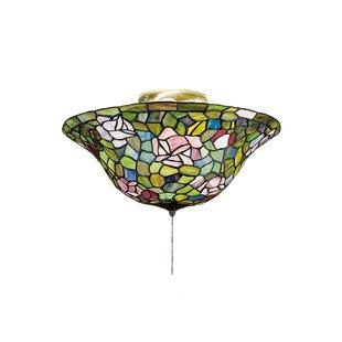 Meyda Tiffany 3-Light Tiffany Rosebush Flush Mount