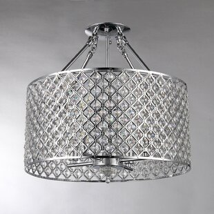 Afaura 4-Light Crystal Chandelier by PPM ..