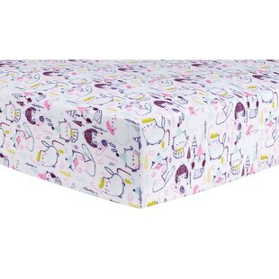 Best Reviews Cool Cats Deluxe Flannel Fitted Crib Sheet By Trend Lab