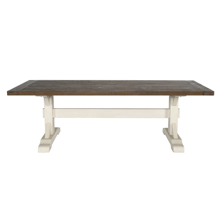 Bulah 94'' Pine Solid Wood Trestle Dining Table