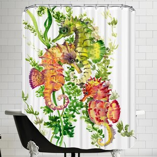Order Sea Horses Shower Curtain By East Urban Home