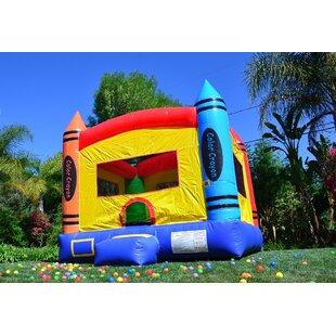 JumpOrange DuraLite Crayon Bounce House