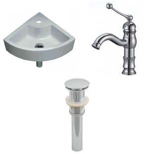 Online Reviews Specialty Ceramic Specialty Vessel Bathroom Sink with Faucet ByAmerican Imaginations