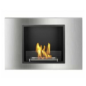 Lima Recessed Ventless Wall Mount Ethanol Fireplace by Ignis Products