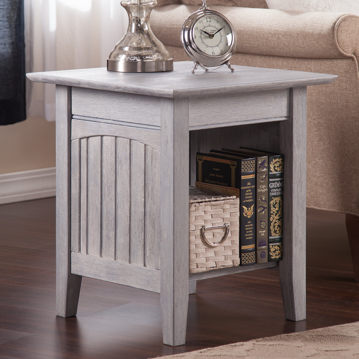 Highland Dunes Glenni Solid Wood End Table With Storage Reviews Wayfair