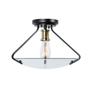 Best Reviews 1-Light Semi Flush Mount By Breakwater Bay
