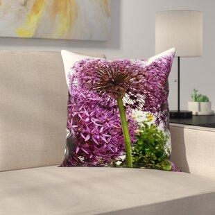 Allium Flower Throw Pillow