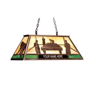 Meyda Tiffany Personalized Pool Hall 6-Light Billiard Light