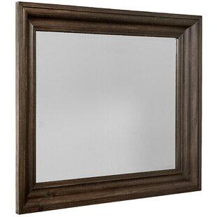 Shadowbox Rectangular Dresser Mirror with Beveled Glass