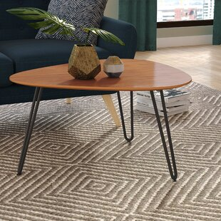 Bisson Hairpin Leg Wood Coffee Table
