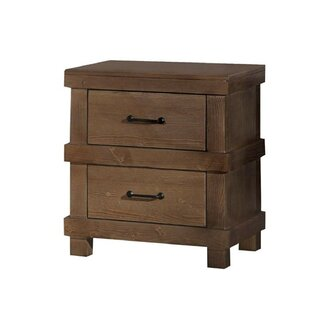 Emely 2 Drawer Nightstand
