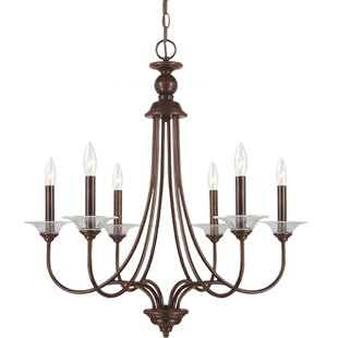 Darby Home Co Locklin 6-Light Candle-Style Chandelier