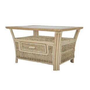 Humphries Banana Leaf Coffee Table With Storage By Beachcrest Home - Banana leaf coffee table