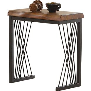 Noelle Metal Frame Wood Side Table