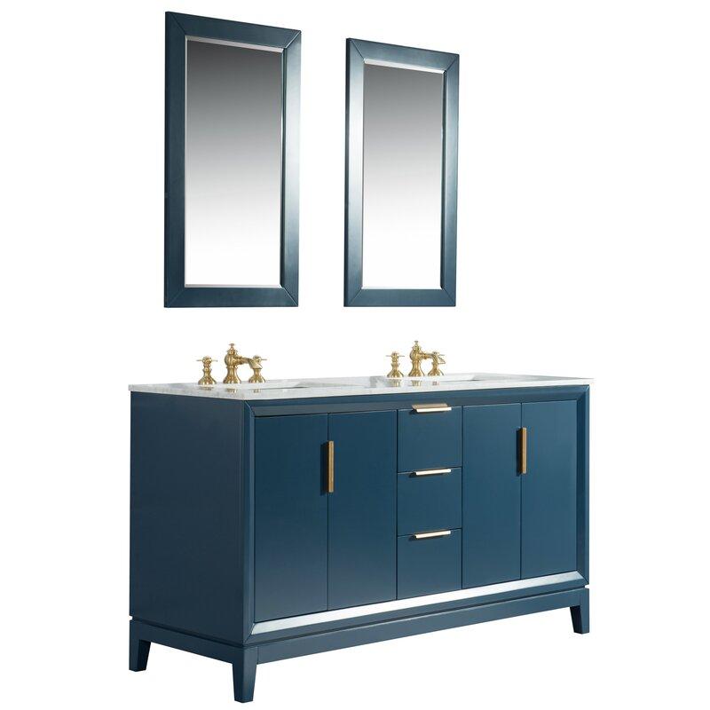 Water Creation 60 Double Bathroom Vanity Set Perigold