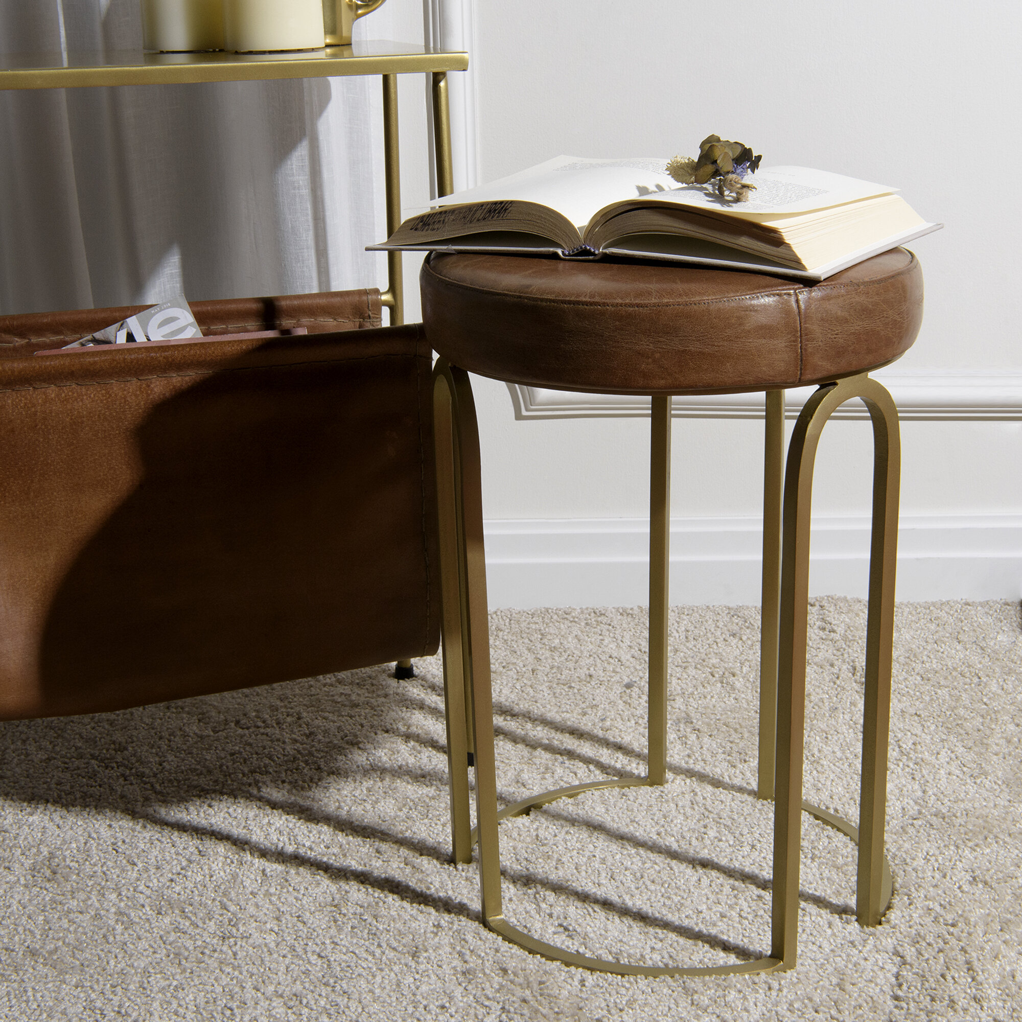 Wrought Studio Orvis Round Vanity Stool Reviews Wayfair