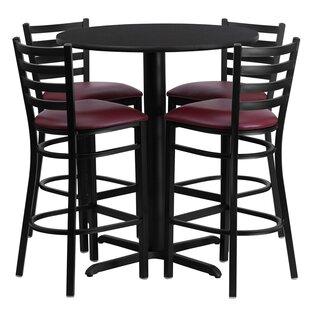 Red Barrel Studio Wen 5 Piece Pub Table Set