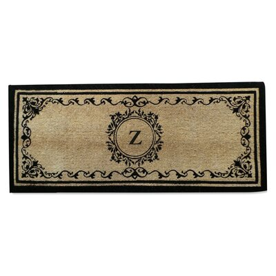 Filigree Decorative Monogrammed Door Mat A1 Home Collections LLC Letter Z