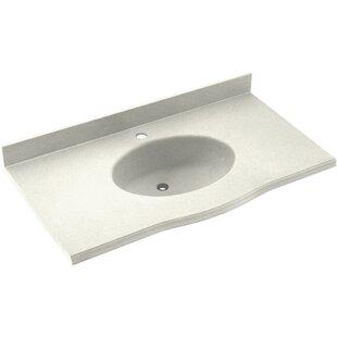 Reviews Europa Solid Surface 49 Single Bathroom Vanity Top BySwan