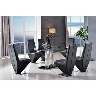 Biddulph  Dining Set With 6 Chairs By Metro Lane