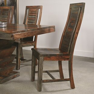 Monroy Solid Wood Dining Chair (Set of 2) World Menagerie