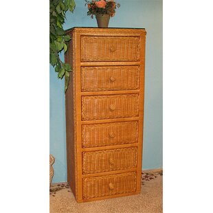 6 Drawer Lingerie Chest by Wicker Warehouse