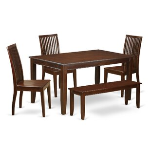 Araminta 6 Piece Solid Wood Dining Set Alcott Hill