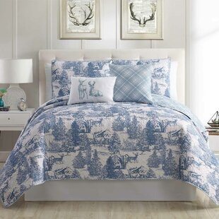 Bundy Printed Reversible Quilt Set