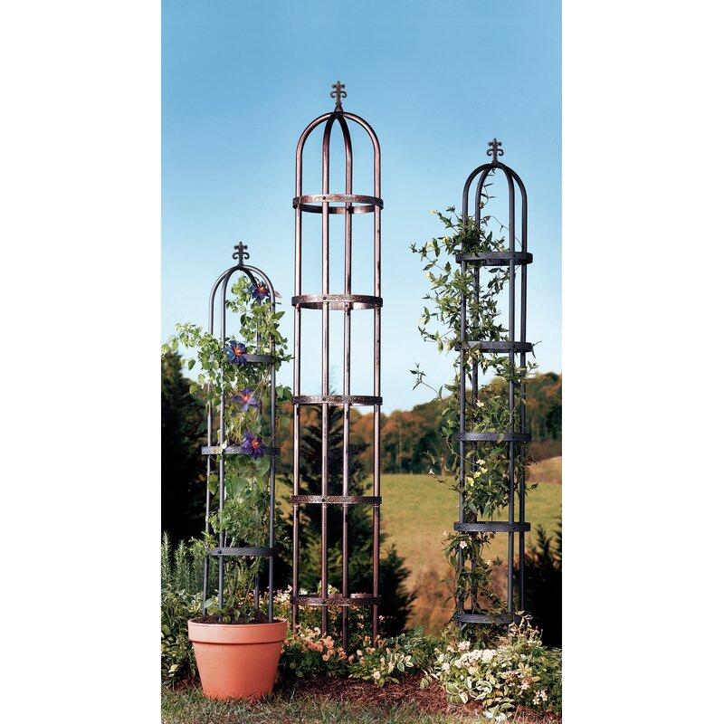 Plow Hearth Steel Obelisk Trellis