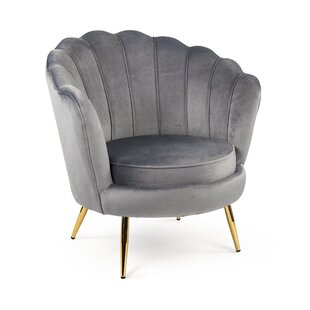 Pedra Distressed Barrel Chair by Everly Quinn