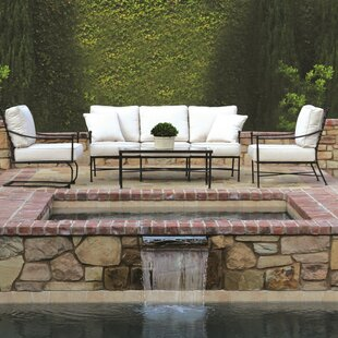 Provence 4 Piece Deep Sunbrella Seating Group with Cushions