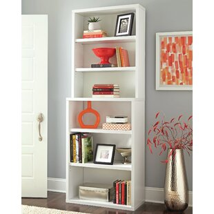 Decorative 6 Shelf Standard Bookcase