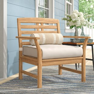 Calila Teak Patio Chair with Cushions (Set of 2) by Birch Lane™ Heritage