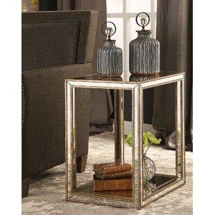 Everly Quinn Robinson Mirrored End Table