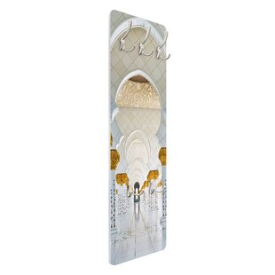 Mosque In Abu Dhabi Wall Mounted Coat Rack By Symple Stuff