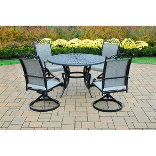 Sunray 5 Piece Swivel Dining Set