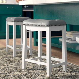 Three Posts Brought 24 Bar Stool (Set of 2)